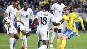Suecia es ahora líder de grupo, empatada a puntos con Francia