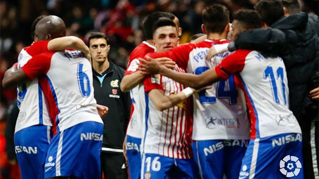 Victoria cómoda del Sporting frente a Las Palmas