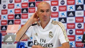 Zidane compareció en la rueda de prensa previa al duelo en Villareal