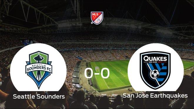El Seattle Soundersy el San Jose Earthquakesse reparten los puntos en el CenturyLink Field (0-0)