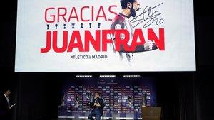 Acto de despedida de Juanfran en el Wanda Metropolitano
