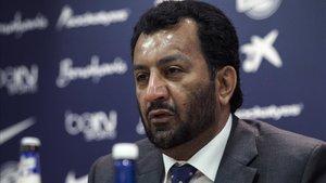 Al-Thani, durante una rueda de prensa