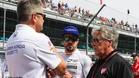 Alonso y Mario Andretti, en el circuito de Indianápolis
