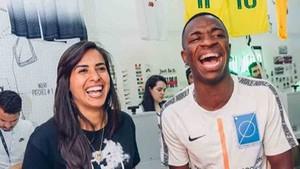 Andressa Alves y Vinicius Jr., juntos en Brasil