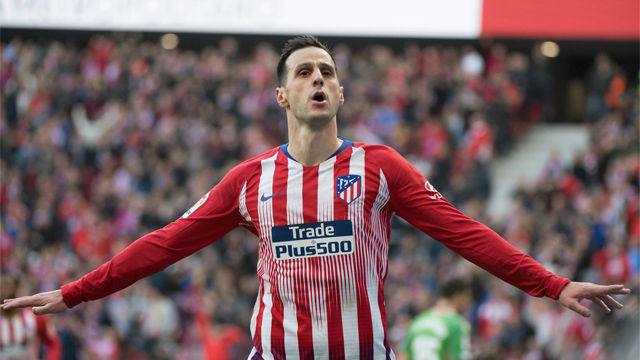 Ante el Alavés, Kalinic anotó su primer gol con el Atleti