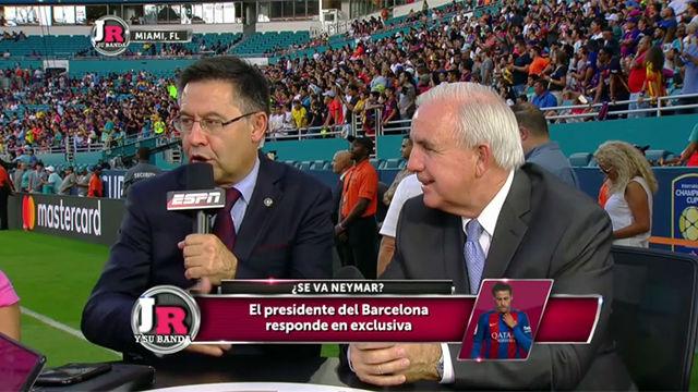 Bartomeu: Si Neymar quiere irse ya sabe que puede pagar