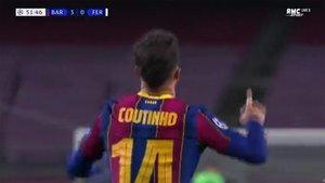 Coutinho celebra el 3-0