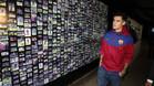 A Coutinho le impresionó la galería de imágenes de futbolistas de leyenda del Barça