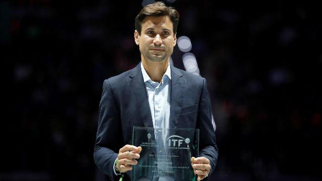 David Ferrer recibe un homenaje en la Copa Davis