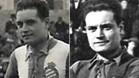 Dos imágenes de Luis Blanco Peyrona. Una con la camiseta del RCD Espanyo y otra con la del FC Barcelona