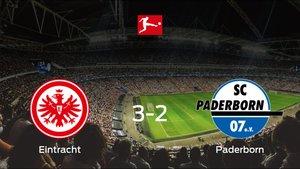 El Eintracht Frankfurt consigue la victoria en casa frente al Paderborn (3-2)