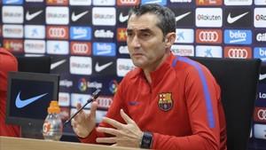 Ernesto Valverde en rueda de prensa en la Ciudad Deportiva Joan Gamper e2951475294