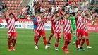 El Girona celebra la última victoria en Montilivi
