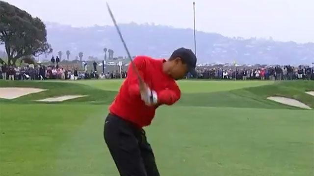El golpe que Tiger Woods nunca olvidará; su cara de incredulidad lo dice todo