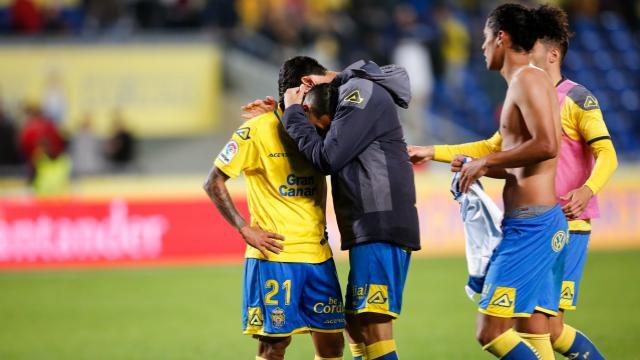 Jonathan Viera le perdonó la vida al Espanyol fallando un penalti en el 95 (ES)