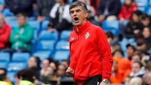 José Luis Mendilibar vive los partidos con pasión y la sabe inculcar a sus futbolistas
