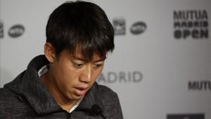 Kei Nishikori abandona el torneo de Madrid