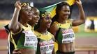 Las jamaicanas se exhibieron en el 4x100