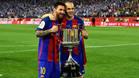 Leo Messi y Andrés Iniesta aspirán esta temporada a ganar cuatro Copa del Rey de forma consecutiva