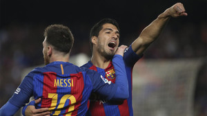 Los goles de Messi y Luis Suárez fueron decisivos ante el Valencia
