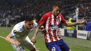 Lucas Hernández durante la final de Europa Lague contra el Olympique de Marsella