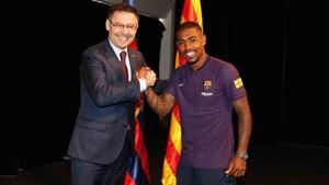 Malcom ha sido presentado por el FC Barcelona