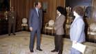 Maradona, junto a Cyterszpiler y el Rey Juan Carlos, en una imagen de archivo
