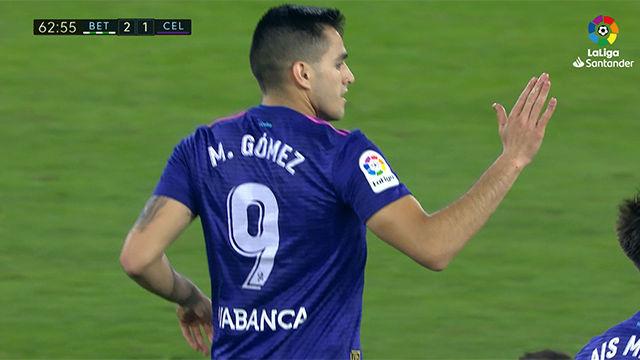 Maxi Gómez: reaparición con gol incluido ante el Betis
