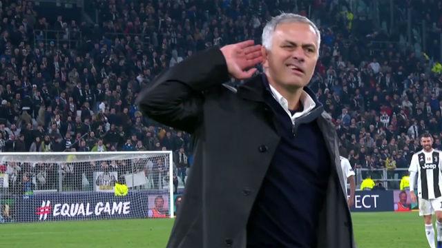 Mourinho la vuelve a liar al provocar a la grada de la Juventus
