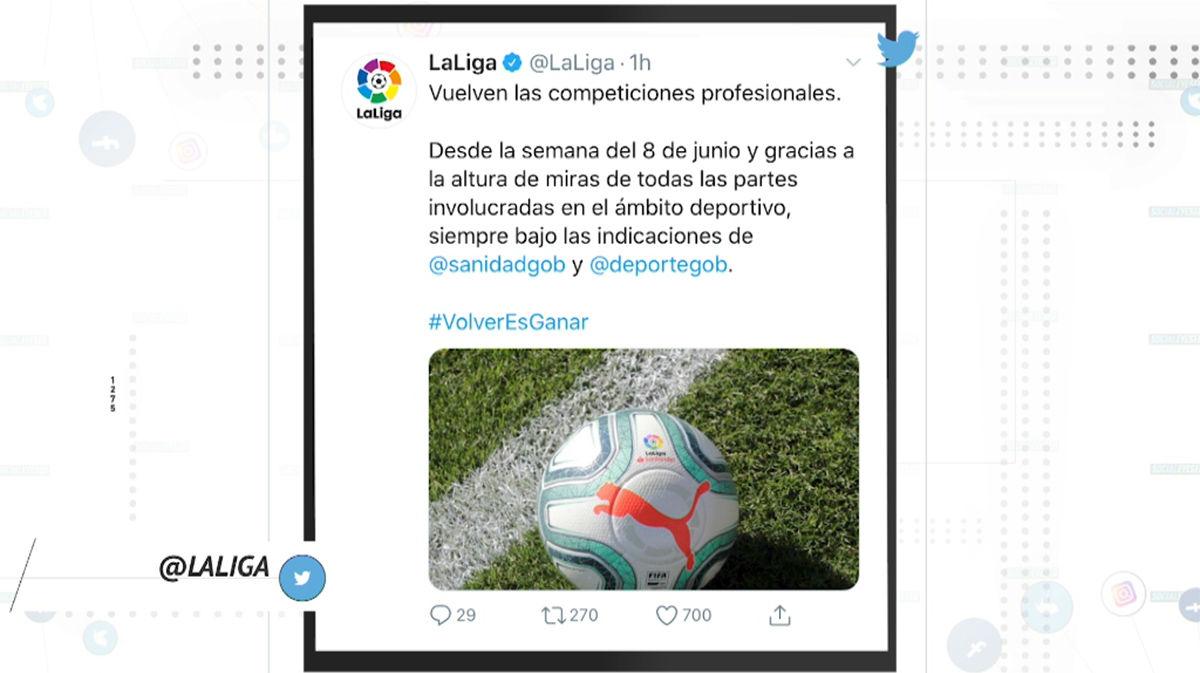 El mundo del fútbol reacciona al regreso de LaLiga