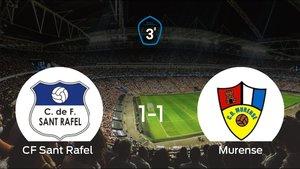 El Murense consigue al menos un punto en el estadio del Sant Rafel (1-1)