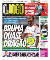 La portada de O Jogo del 25 de junio
