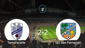 Reparto de puntos entre el Tamaraceite y el San Fernando, el marcador final fue de 2-2