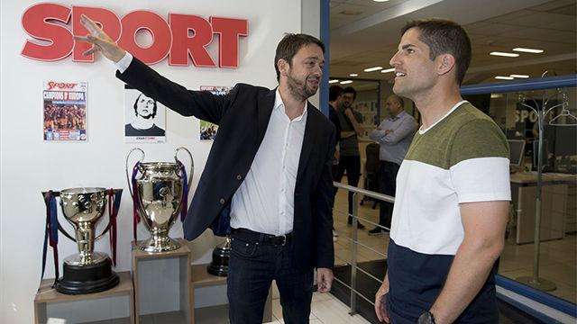 Robert Moreno visitó la redacción de SPORT
