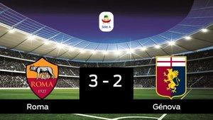 La Roma derrota en casa al Génova por 3-2