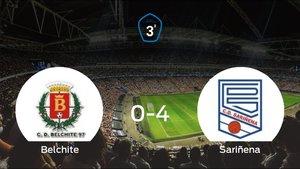 El Sariñena se queda con los tres puntos frente al Belchite (0-4)