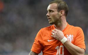 Sneijder, con la selección holandesa