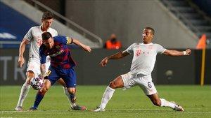Thiago Alcántara, en el Barça - Bayern ante Messi y Lewandowski