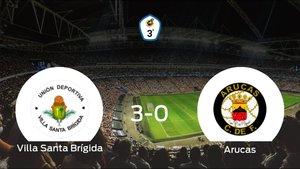 El Villa Santa Brígidasuma tres puntos tras golear al Arucas en casa (3-0)