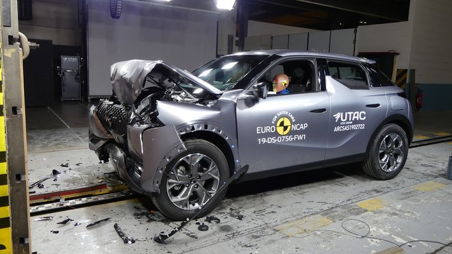 El DS 3 Crossback se somete a las pruebas de seguridad de Euro NCAP.