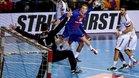 Aleix Gómez, la pasada temporada en el Palau ante el Vardar
