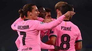 El Barça se adelantó en Turín gracias a Dembélé