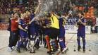 El Barça, celebrando la 22 Copa del Rey de su historia