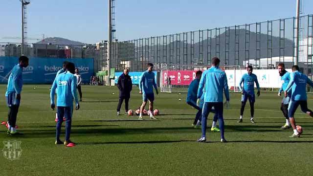 El Barça ya prepara el encuentro de Champions ante el Lyon