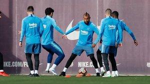 El FC Barcelona ha completado el último entrenamiento antes de recibir a la Real Sociedad