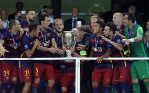 El FC Barcelona ganó en Tiflis su sexta final europea consecutiva