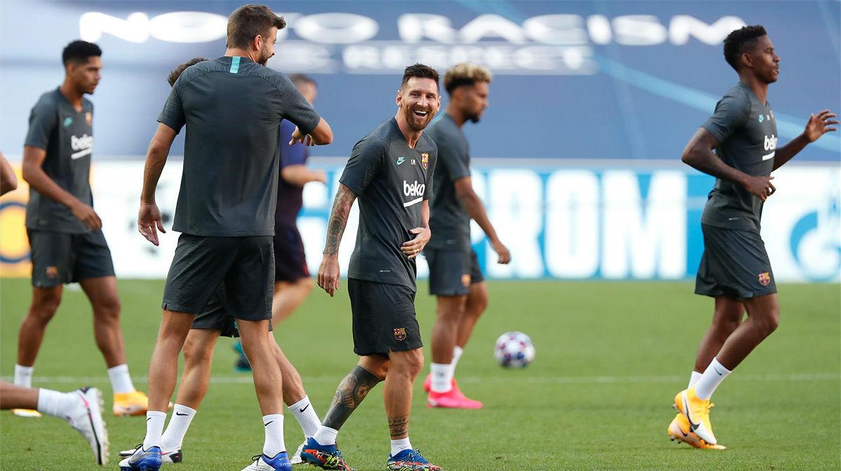 El Barcelona se prepara en Lisboa antes de su encuentro con el Bayern