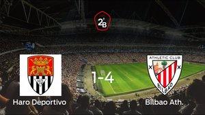El Bilbao Ath. golea 1-4 en el Municipal El Mazo al Haro Deportivo