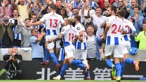 El Brighton celebró una merecida victoria