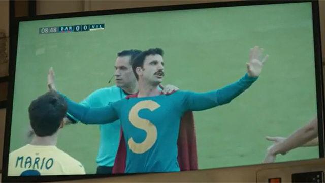 El cameo de SuperLópez en un Barça-Villarreal: ¡Hasta Messi se sorprende!